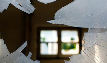 Broken Window Glass Small